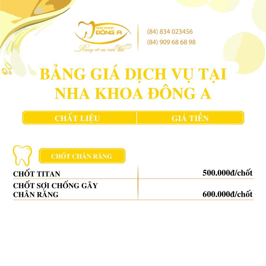 Chot Chan Rang Nha Khoa Dong A