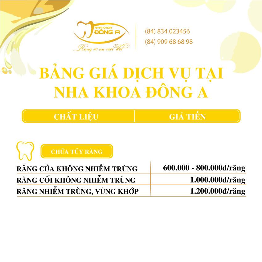 Chua Tuy Rang Nha Khoa Dong A