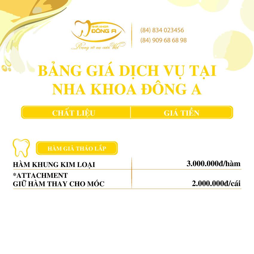 Ham Gia Thao Lap Nha Khoa Dong A