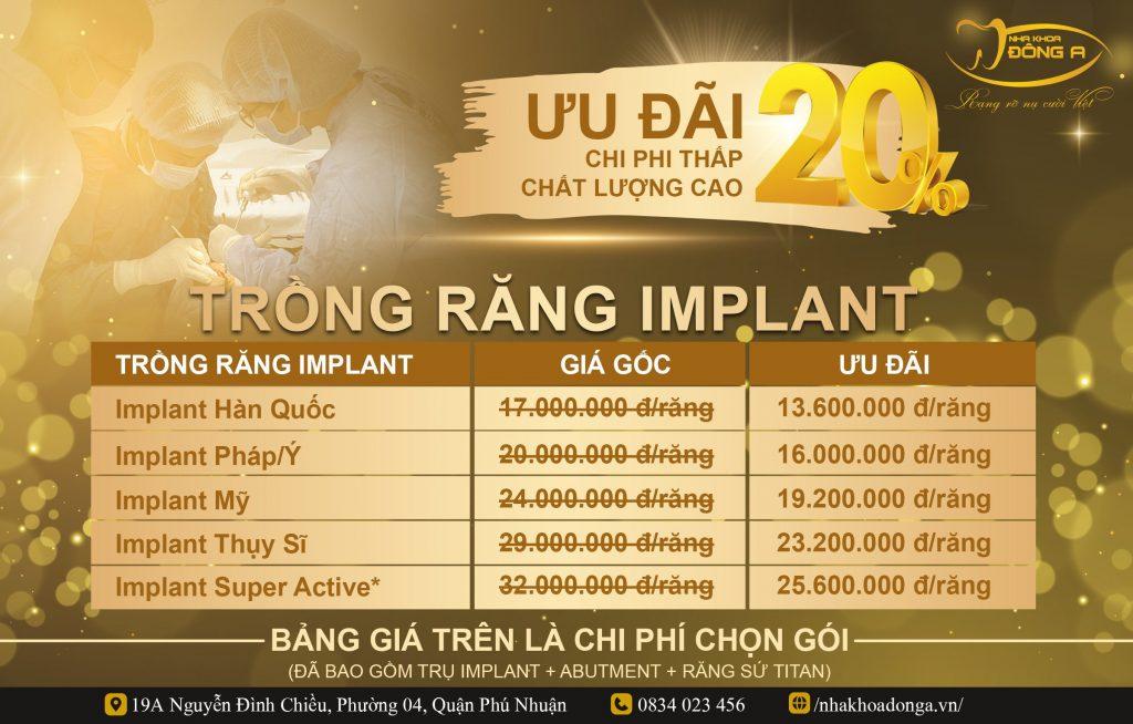 Bang Gia Uu Dai Trong Rang Implant T42021 Nha Khoa Dong A Phu Nhuan